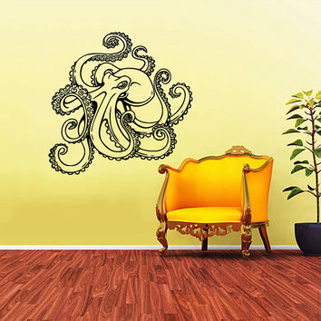 Octopus Wall Decal Tentacles Sprut Kraken Ocean Sea Animal Wall Decals Vinyl Sticker Interior Home Decor Vinyl Art Wall Decor Bedroom SV5836