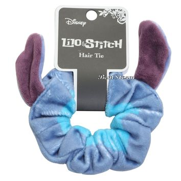 Licensed cool Disney Loungefly Lilo & Stitch Plush Stretch Hair Scrunchie Pony Tail Holder NEW