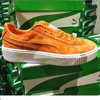 Puma Fashion women Suede Platform sports shoes orange H-TXXC-WXXC