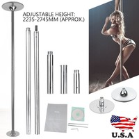 Portable 45mm Solid Dance Pole Fitness Static Stripper Spinning Exercise Bodybuilding Accessory MAYITR