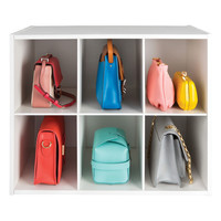 The Container Store > 6-Section Shoe & Handbag Organizer