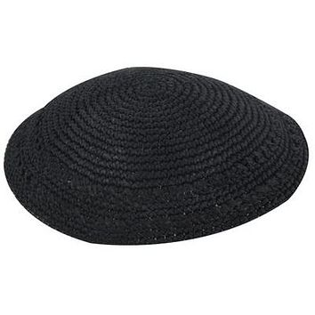 Kippah 19cm- Black with Holes