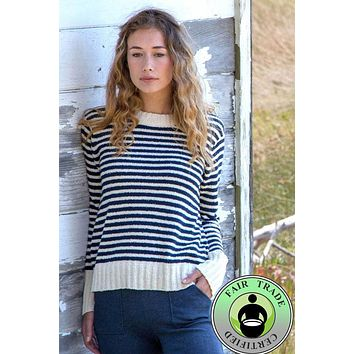 Striped Boucle Sweater