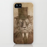 Sir Tiger iPhone & iPod Case by Terry Fan