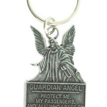 Guardian Angel Pewter Keychain