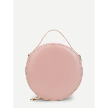 DCCKM83 Round Zip Around Crossbody Bag
