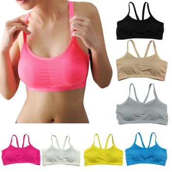 Fitness Ladies Gym Running Yoga Workout Gym Tank Tops Seamless Sports Bra Padded