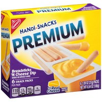 Kraft Handi-Snacks Premium Breadsticks 'N Cheez Snack Packs, 6ct - Walmart.com