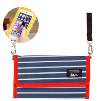 &SMART. NOTE Multi-Utility Smartphone Pouch (Navy Border)