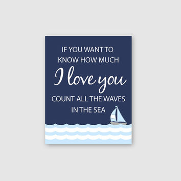 Nautical Nursery Decor, Sailboat Print Art, Inspirational Print Art, Baby Boy Nursery Decor, Boy Nursery Art, Nautical Bedroom Art