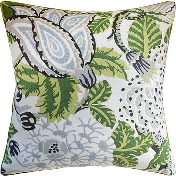 Mitford Green and White Pillow by Ryan Studio