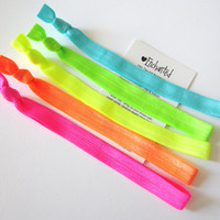 NEON HEADBAND PACK - 5 Elastic Knotted Headbands - by Enchanted - Emi Jay & Anthropologie Like Yoga Headband
