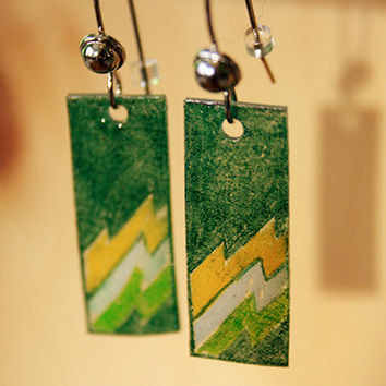 Green Lightning | earrings