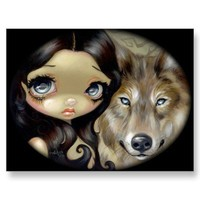 """""""Silver Eyed Wolf"""" Postcard from Zazzle.com"""