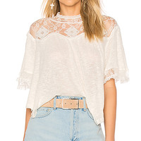 Free People Cape May Tee in Ivory