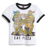 Toddler Boy's Junk Food 'Teenage Mutant Ninja Turtles - Eat Pizza' Graphic T-Shirt