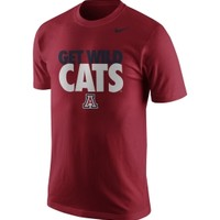 Nike Men's Arizona Wildcats Cardinal 'Get Wild Cats' Selection Basketball T-Shirt