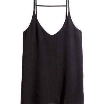 Tank Top in Woven Fabric - from H&M