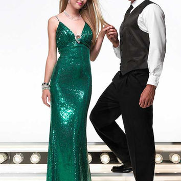 Alyce Designs 6291 Emeral Size 12 sequin prom dress, cocktail dress