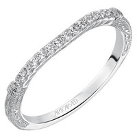 "Artcarved ""Angelina"" Diamond Wedding Band Featuring Engraving Details"