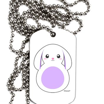 Cute Bunny with Floppy Ears - Purple Adult Dog Tag Chain Necklace by TooLoud