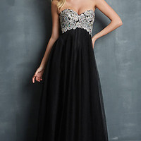 Strapless Sweetheart Floor Length Dress