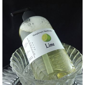 LIME Unisex Body Wash | 8 oz | Castile Soap | Essential Oil