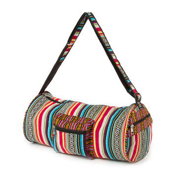 Festival Embroidered Tribal Print Duffle Bag