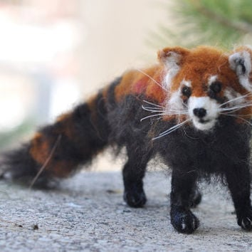 Needle Felted  Wool Animals  Red PandaOOAK by darialvovsky on Etsy