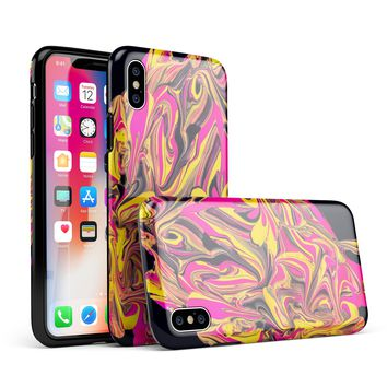 Liquid Abstract Paint V79 - iPhone X Swappable Hybrid Case