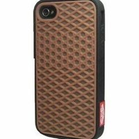 Generic Sole Back Case For Apple iPhone 4/4G/4S (brown&black)