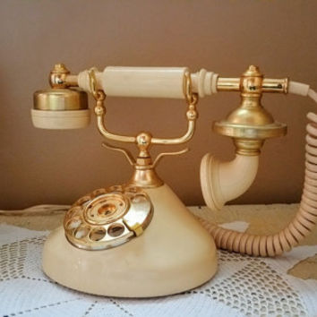 Vintage French Phone Working Rotary Telephone Sweet Talk Model GTE Automatic
