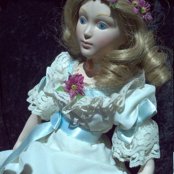 Little Women Amy March Franklin Mint Porcelain Doll