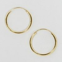 ASOS Gold Plated Sterling Silver 20mm Hoop Earrings at asos.com