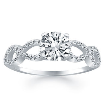 Double Infinity Diamond Engagement Ring 3/4 ct. tw. 14k White Gold