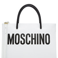 Moschino - Leather Tote with Logo