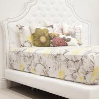 www.roomservicestore.com - Casablanca Bed in White Tufted Faux Leather