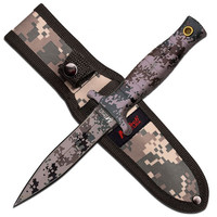 "MTech USA Fixed Blade Knife 4.5"" Digital Camo Coat Blade"