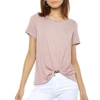 Jac Parker Striped Knot Tee