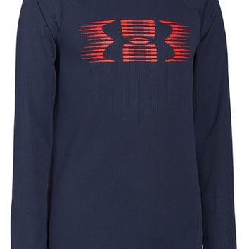 Boy's Under Armour AllSeasonGear Waffle Knit Long Sleeve T-Shirt,