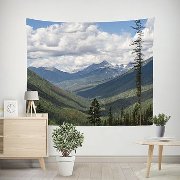 Pacific Northwest Mountains Wall Tapestry - 4 Sizes