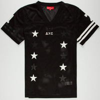 Asphalt Yacht Club First Draft Mens Mesh Jersey Black  In Sizes