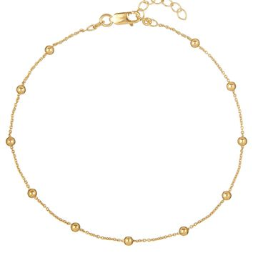 Dainty Ball Chain Anklet
