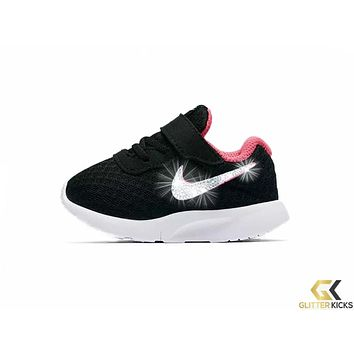 Girls  Nike Tanjun + Crystals - Infant Toddler (2c-10c) - Black . shoes 68f6528408