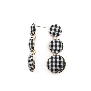 Gingham Drop Earrings