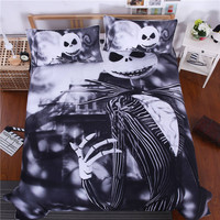 Bedding Nightmare Before Christmas Cool Bed Linen Printed Soft Twin Full Queen King Sheet Set