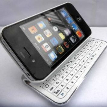 CellMACs iPhone 4/iPhone 4S Sliding Bluetooth Keyboard Case and Stand Combo - WHITE: Cell Phones & Accessories