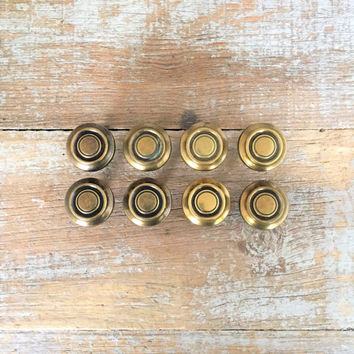Drawer Knobs 8 Drawer Pulls Brass Drawer Knobs Cabinet Drawer Knobs Decorative Knobs Mid Century Hardware Dresser Knobs Cottage Chic