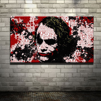 2015 Oil Painting Cuadros Quadros Wall Painting joker movie poster Art Picture Paint on Canvas Home Decorative Art Picture