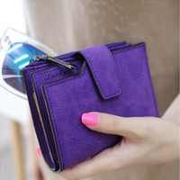 Vintage Matte Women Wallet Fashion Small Female Purse [8833929868]